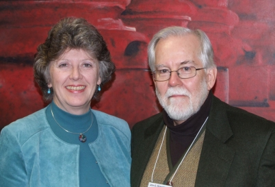 Pauline Bayne and John Druesedow at MLA in Chicago