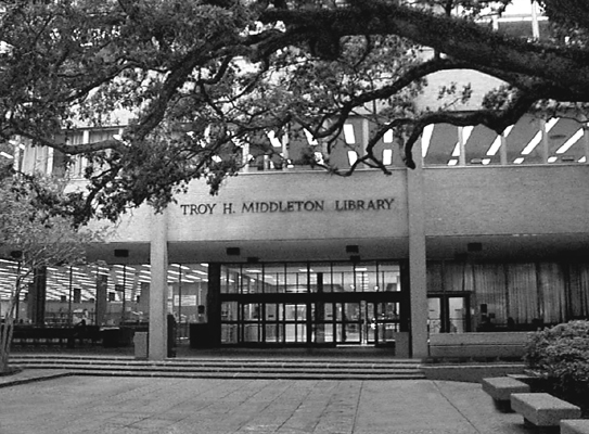 Middleton Library, home of the Carter Music Resoruces Center, Louisiana State University